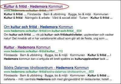 Google lägger till webbplatsens namn om den saknas i titeln.